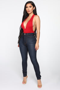 Not Messing Around Racerback Bodysuit - Red