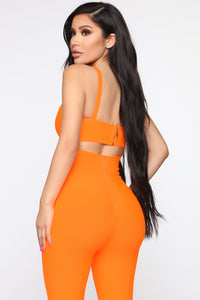 Sexy N Snatched Bandage Set - Neon Orange
