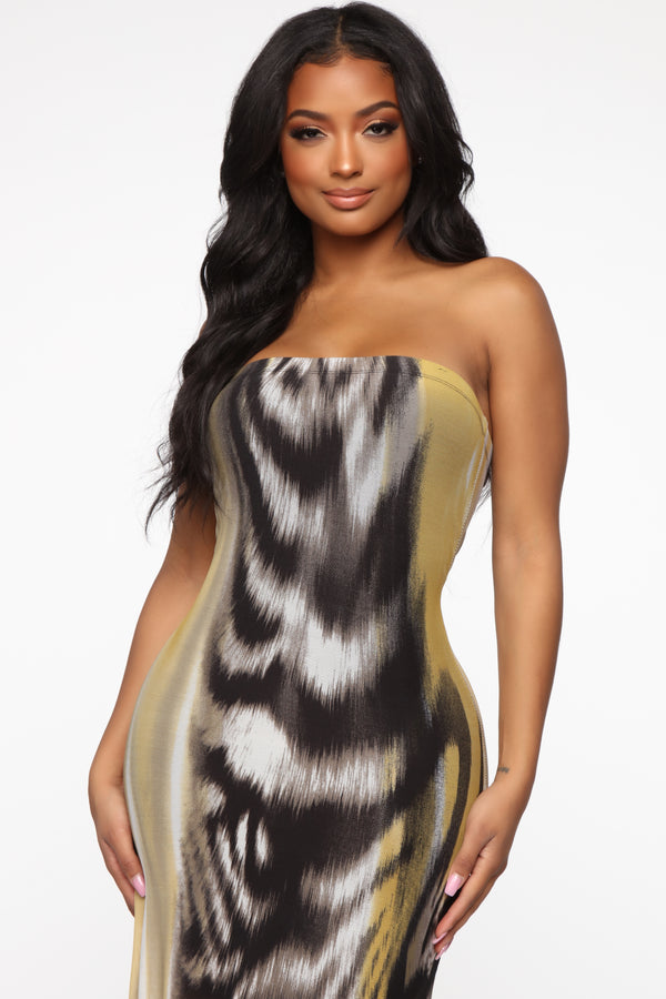 3126e56690 First Instinct Maxi Dress - Yellow/Combo