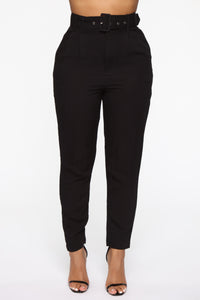 Out Of Time High Rise Pants - Black