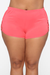 Run Through Your Mind Shorts - Neon Coral
