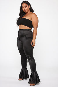 Dance Into Your Heart Flare Pants - Black Angle 9