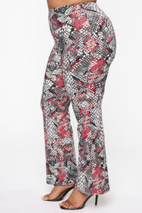 Completely Different Pant Set - Grey/Hot Pink Angle 7