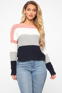 On The Way Sweater - Mauve/combo