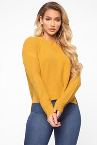 In My Heart Sweater - Mustard Angle 1
