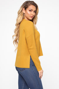 In My Heart Sweater - Mustard Angle 3