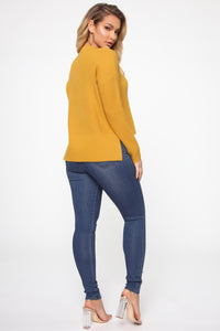 In My Heart Sweater - Mustard Angle 5