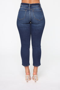 Let's Get Away Ankle Jeans - Dark Denim