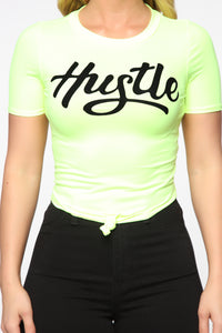 All About That Hustle Top 2 - Lime