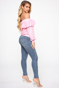 Ready For The Weekend Sweatshirt - Dusty Pink Angle 5