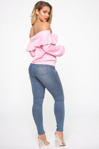 Ready For The Weekend Sweatshirt - Dusty Pink Angle 4