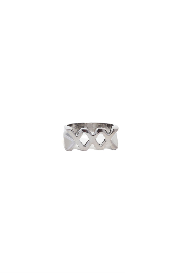 Triple X Rated Ring - Gunmetal