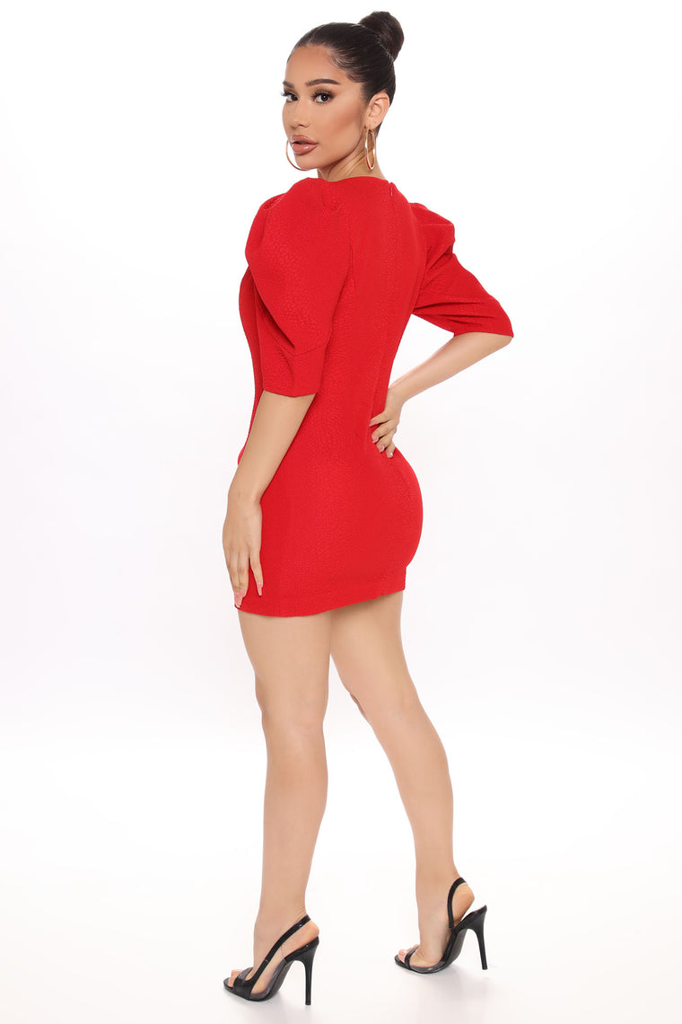 One Night Only Mini Dress - Red