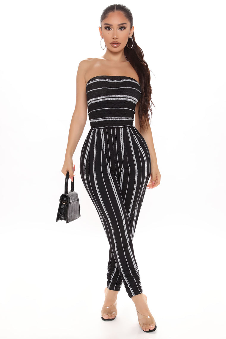 Alexandra Jumpsuit - Black/White