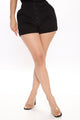 Bottoms Up High Rise Short - Black