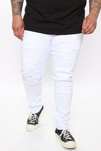 Ain't Got Nothing to lose Skinny Jean - White Angle 6