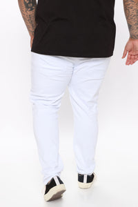 Ain't Got Nothing to lose Skinny Jean - White Angle 7