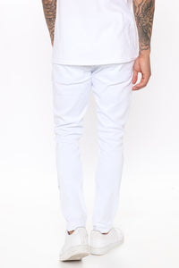 Ain't Got Nothing to lose Skinny Jean - White Angle 4