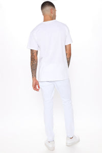 Ain't Got Nothing to lose Skinny Jean - White Angle 3