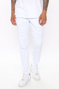 Ain't Got Nothing to lose Skinny Jean - White Angle 1