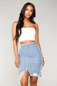 Her Way Tube Top - White
