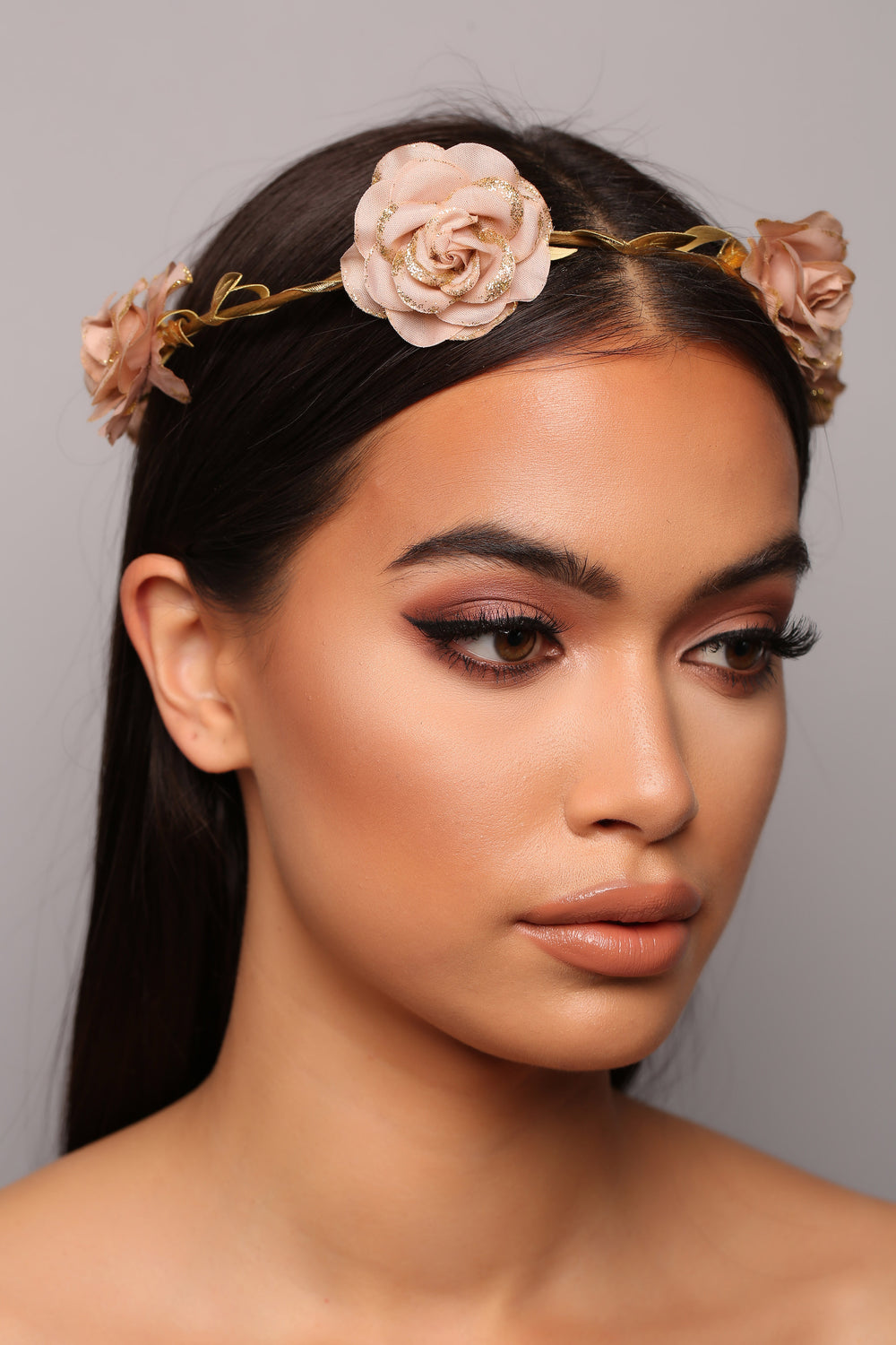 Rose To The Top Flower Crown - Beige