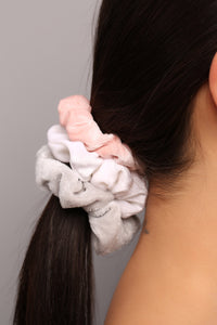 Draw Or Tie Scrunchie Set - Multi