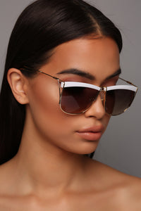 Just Do It Sunglasses - Brown/White