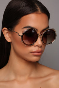 In Circles Sunglasses - Brown/Gold