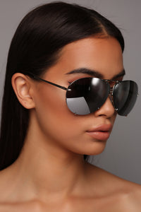 All About You Sunglasses - Flash/Silver Angle 1