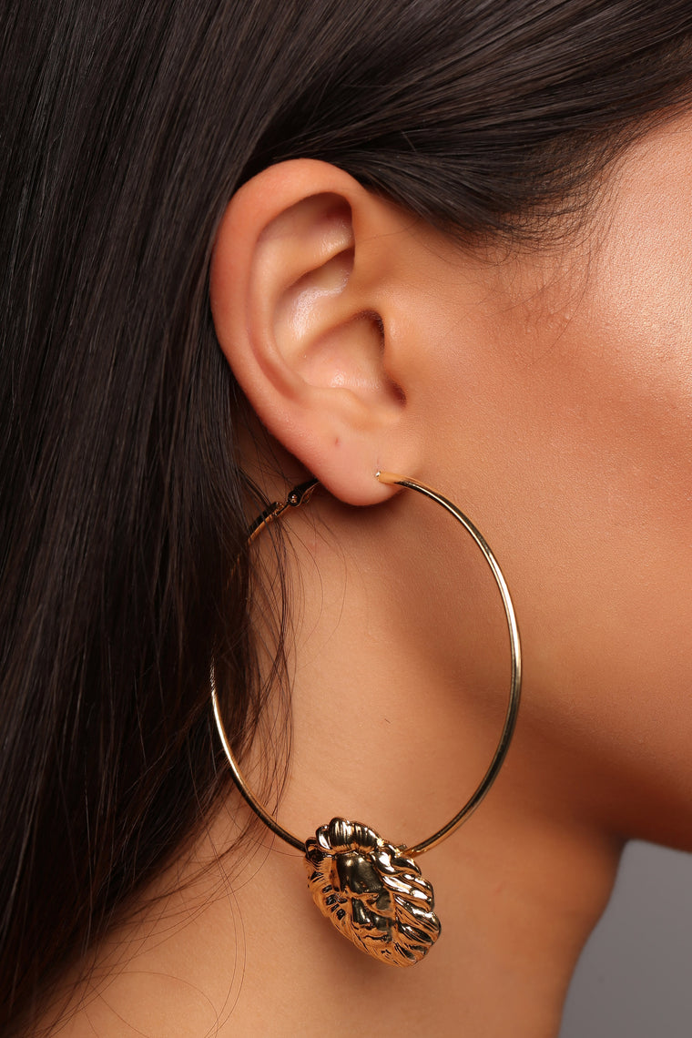 Caroline Hoop Earrings - Gold
