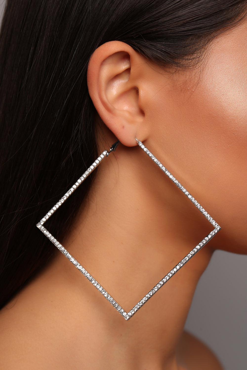 Diamonds Are Forever Earrings - Silver