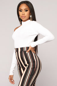 Calling In Sick Crop Top - Ivory
