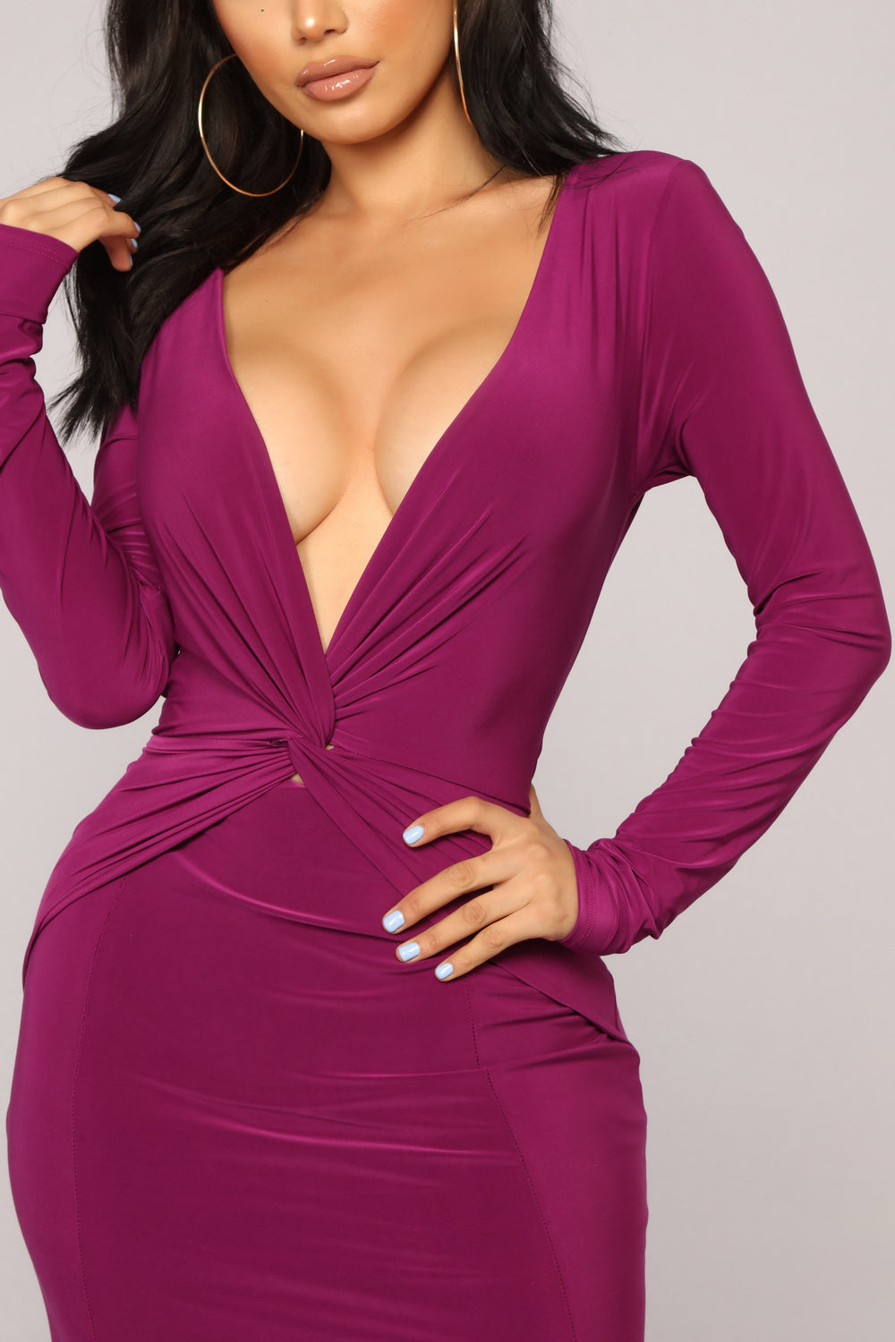 Mara Knot Dress - Magenta