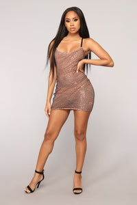 Melted In Your Love Mini Dress - Black/Rose