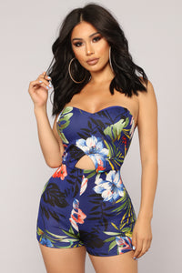Out In The Tropics Romper - Royal