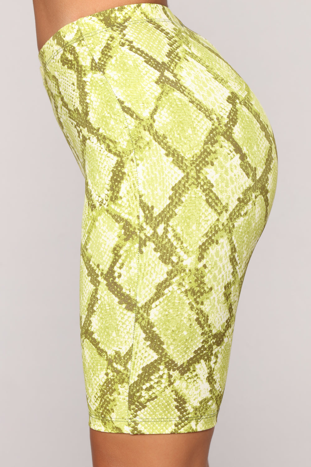 Snake Charmer Biker Short Set - Lime