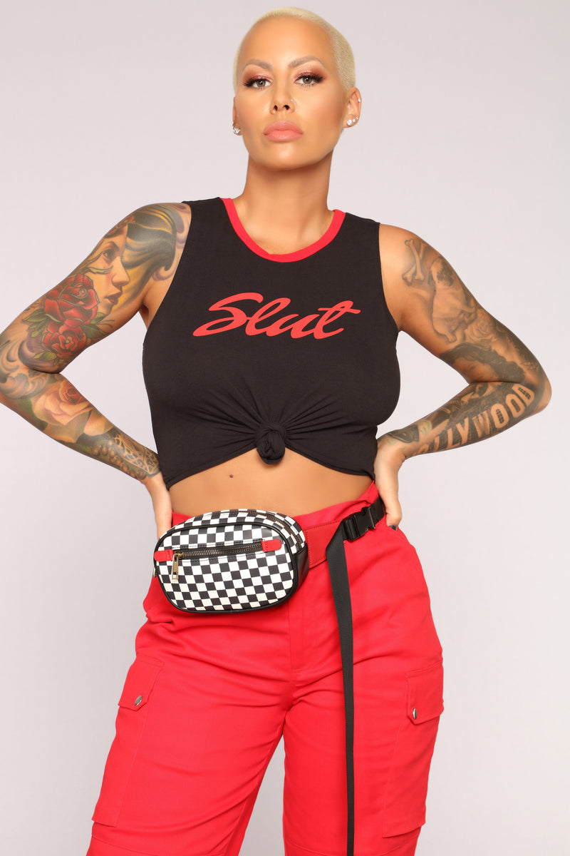 Check Up On It Fanny Pack - Red