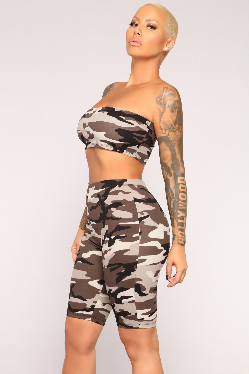 Hidden Motives Crop Top - Grey