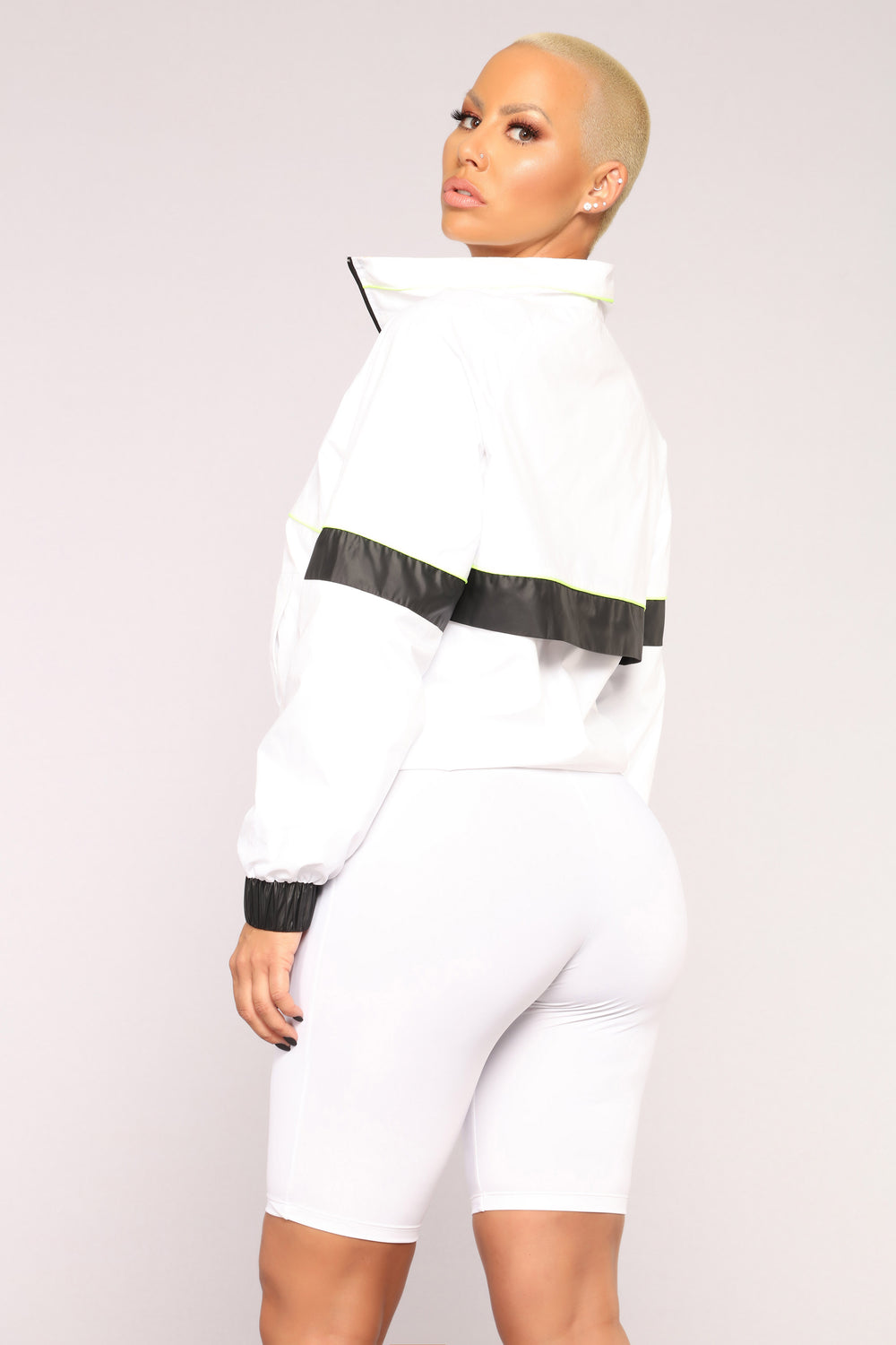 Jaylene Windbreaker Jacket - White