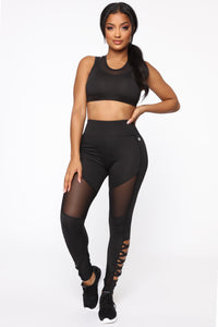 Hey Cut It Out Bra Top - Black