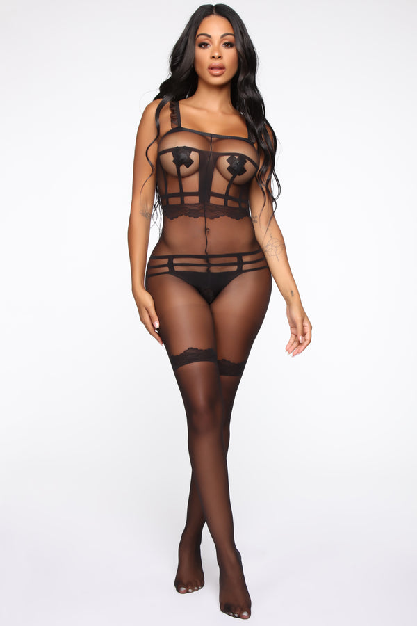 8197f5237 In Your Bed Body Stocking - Black