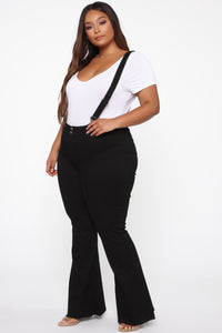 Saved By The Bell Bottom Jeans - Black