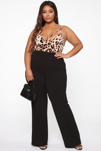 Victoria High Waisted Dress Pants - Black Angle 7