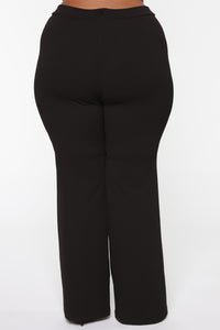 Victoria High Waisted Dress Pants - Black Angle 12