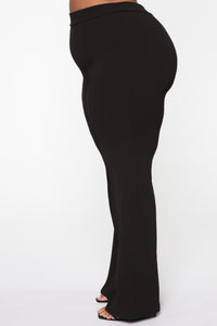 Victoria High Waisted Dress Pants - Black Angle 13