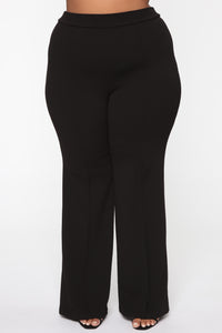Victoria High Waisted Dress Pants - Black Angle 11