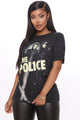 The Police Top - Black/combo