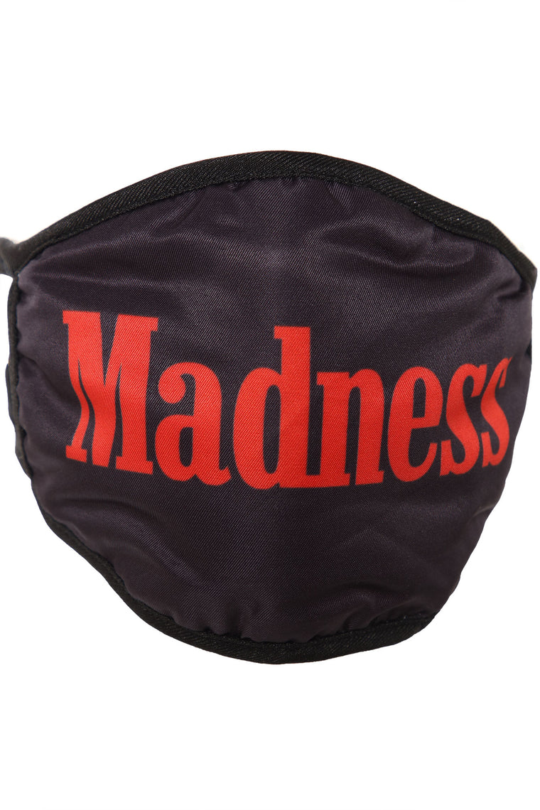 Total Madness Face Mask - Black/Red