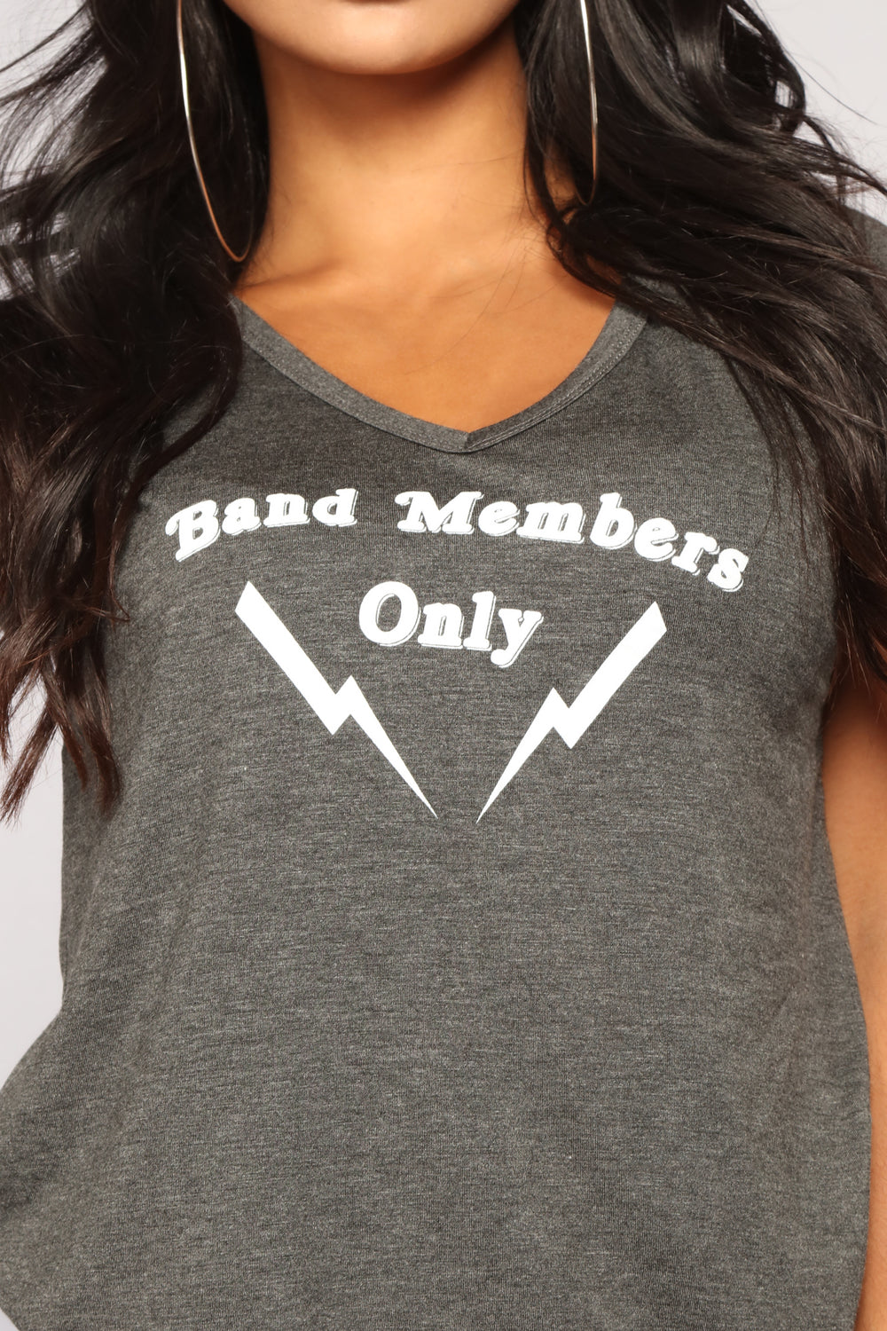 Band Member Only Tee - Charcoal